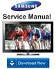 Thumbnail Samsung PN58B550 PN58B550T2F Service Manual and Repair Guide