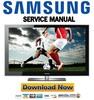 Thumbnail Samsung PN58B850 PN58B850Y1F Service Manual and Repair Guide