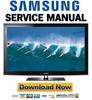 Thumbnail Samsung PN58C6400 PN58C6400TF Service Manual and Repair Guide