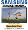Thumbnail Samsung PN63C8000 PN63C8000YF PN63C8000YFXZA Service Manual and Repair Guide
