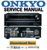 Thumbnail Onkyo TX SR313 Service Manual Repair Guide