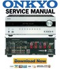 Thumbnail Onkyo TX SR607 Service Manual and Repair Guide
