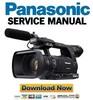 Thumbnail Panasonic AG-AC160 Service Manual and Repair Guide
