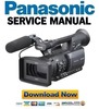 Thumbnail Panasonic AG-HMC150 HMC151 HMC152 HMC153 Service Manual and Repair Guide
