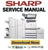 Thumbnail Sharp AR-M700N M700U COMPLETE Service Manual & Repair Gudie