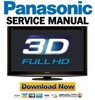 Thumbnail Panasonic TX-P46VT20 P46VT20E Service Manual Repair Guide