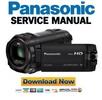 Thumbnail Panasonic HC W850 W858 W850M Service Manual and Repair Guide