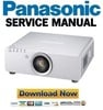 Thumbnail Panasonic PT D6000 DW6300 DZ6700 DZ6710 Service Manual and Repair Guide