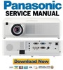 Thumbnail Panasonic PT VW330 Service Manual and Repair Guide