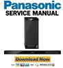 Thumbnail Panasonic SC-HTB20 Service Manual and Repair Guide