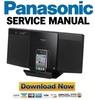 Thumbnail Panasonic SC-HC25 HC25EG HC25EF Service Manual & Repair Guide