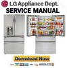 Thumbnail LG LMXC23746S Service Manual  & Repair Guide