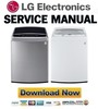 Thumbnail LG WT1701C WT1701CV WT1701CW Service Manual and Repair Guide