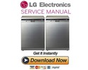 Thumbnail LG D14446IXS Dishwasher Service Manual and Repair Guide