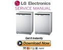 Thumbnail LG D1484WF D1484CF D1484BF Dishwasher Service Manual and Repair Guide