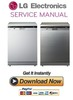Thumbnail LG LD-1453AC 1453W Dishwasher Service Manual and Repair Guide