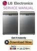 Thumbnail LG LD 1454ACS Dishwasher Service Manual and Repair Guide