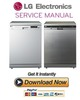 Thumbnail LG LD-1483T4 1484T4 1485T4 1482S4 1482T4 1484W4 Dishwasher Service Manual and Repair Guide