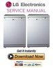 Thumbnail LG LD1452WFEN3 Dishwasher Service Manual and Repair Guide