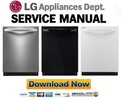 Thumbnail LG LDF7774ST LDF7774BB LDF7774WW Dishwasher Service Manual and Repair Guide