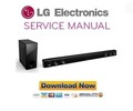 Thumbnail LG NBN36 Sound Bar Service Manual and Repair Guide
