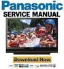 Thumbnail Panasonic PT-50LCZ7 56LCZ7 61LCZ7 Service Manual & Repair Guide