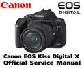 Thumbnail Canon EOS Kiss Digital X Service Manual & Repair Guide