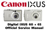 Thumbnail Canon Digital IXUS 60 + 65 Service Manual & Repair Guide