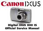 Thumbnail Canon Digital IXUS 800 IS Manuale Reparazione