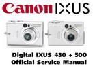 Thumbnail Canon Digital Ixus 430 + 500 Service Manual & Repair Guide