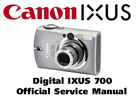 Thumbnail Canon Digital Ixus 700 Service & Repair Manual