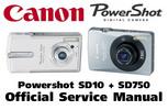 Thumbnail Canon PowerShot SD10 + SD750 Service Manual & Repair Guide