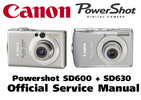Thumbnail Canon PowerShot SD630 + SD600 Service Manual & Repair Guide
