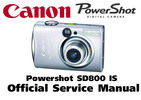 Thumbnail Canon PowerShot SD800 IS Service Manual & Repair Guide