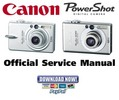 Thumbnail Canon Powershot SD200 + SD300 Service Manual & Repair Guide