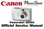 Thumbnail Canon Powershot SD500 Service Manual & Repair Guide