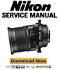 Thumbnail Nikon PC-E Micro Nikkor 45mm f 2.8D ED Service Manual Repair Guide