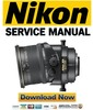 Thumbnail Nikon PC-E Micro Nikkor 85mm f 2.8D ED Service Manual Repair Guide