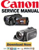 Thumbnail Canon HF10 + HF100 Manuale di Servizio