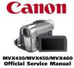 Thumbnail Canon MVX430 MVX450 MVX460 (PAL)  Service Manual Repair Guide