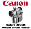 Thumbnail Canon Optura 200MC Service Manual Repair Guide