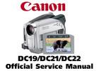 Thumbnail Canon DC19 + DC21 + DC22 Series Service Manual Repair Guide