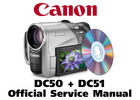 Thumbnail Canon DC50 + DC51 PAL/iPAL Service Manual Repair Guide