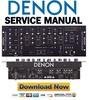 Thumbnail Denon DN-X400 Service Manual & Repair Guide