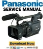 Thumbnail Panasonic AG-HVX200 HVX202 Service Manual & Repair Guide