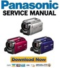 Thumbnail Panasonic SDR-H80 H81 H90 Service Manual and Repair Guide