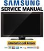 Thumbnail Samsung LE55A956D1M Service Manual & Repair Guide