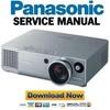 Thumbnail Panasonic PT-AE900 Reparaturanleitung und Service Handbuch