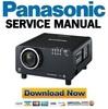 Thumbnail Panasonic PT-D12000 DZ12000 DW100 Service Manual & Repair Guide
