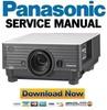 Thumbnail Panasonic PT-D3500 D3500U D3500E Service Manual Repair Guide